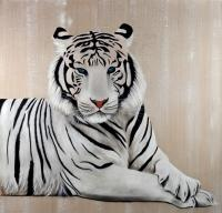 WHITE TIGER white-tiger Thierry Bisch Contemporary painter animals painting art  nature biodiversity conservation