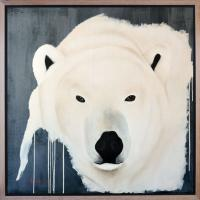 POLAR BEAR 16 animal-painting Thierry Bisch painter animals painting art decoration hotel design interior luxury nature biodiversity conservation
