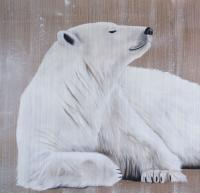 POLAR BEAR 18 animal-painting Thierry Bisch painter animals painting art decoration hotel design interior luxury nature biodiversity conservation