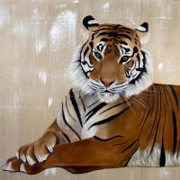TIGER  animal-painting Thierry Bisch painter animals painting art decoration hotel design interior luxury nature biodiversity conservation