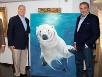 URSUS-MARITIMUS- animal-painting Thierry Bisch Contemporary painter animals painting art  nature biodiversity conservation