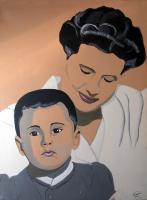 Mom-and-son Child-portraits Thierry Bisch painter animals painting art decoration hotel design interior luxury nature biodiversity conservation