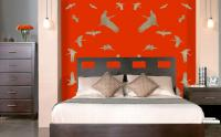 Chinese-Bedroom Stork Thierry Bisch Contemporary painter animals painting art  nature biodiversity conservation