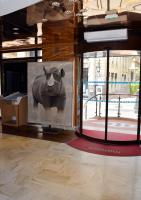 OFFICE DE TOURISME MONACO rhinoceros-black-rhino-diceros-bicornis-threatened-endangered-extinction Thierry Bisch painter animals painting art decoration hotel design interior luxury nature biodiversity conservation
