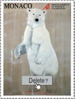 Timbre Delete Ours ursus-maritimus-polar-bear-white-threatened-endangered-extinction Thierry Bisch Contemporary painter animals painting art  nature biodiversity conservation