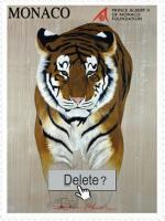 Timbre Delete Tigre animal-painting Thierry Bisch painter animals painting art decoration hotel design interior luxury nature biodiversity conservation