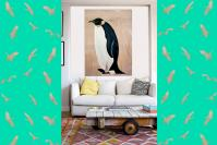MANCHOT-EMPEREUR penguin-emperor-deco-decoration-large-size-printed-canvas-luxury-high-quality Thierry Bisch Contemporary painter animals painting art  nature biodiversity conservation
