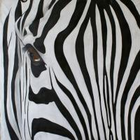 Zebre   Animal painting, wildlife painter.Dogs, bears, elephants, bulls on canvas for art and decoration by Thierry Bisch