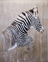 EQUUS GREVYI zebra-grevy`s-threatened-endangered-extinction- Thierry Bisch painter animals painting art decoration hotel design interior luxury nature biodiversity conservation