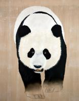 AILUROPODA MELANOLEUCA panda%20giant%20ailuropoda%20melanoleuca%20threatened%20endangered%20extinction Thierry Bisch painter animals painting art decoration hotel design interior luxury nature biodiversity conservation