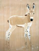 EQUUS ASINUS AFRICANUS african-wildass-wild-donkey-equus-asinus-africanus-threatened-endangered-thierry-bischextinction Thierry Bisch painter animals painting art decoration hotel design interior luxury nature biodiversity conservation