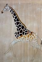 NUBIAN GIRAFFE animal-painting Animal painting by Thierry Bisch pets wildlife artist painter canvas art decoration
