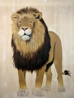 PANTHERA LEO PERSICA asiatic-lion-indian-persian-panthera-leo-persica-threatened-endangered-extinction Thierry Bisch painter animals painting art decoration hotel design interior luxury nature biodiversity conservation