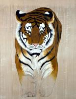 PANTHERA TIGRIS ALTAICA tiger-siberian-amur-threatened-endangered-extinction- Animal painting by Thierry Bisch pets wildlife artist painter canvas art decoration