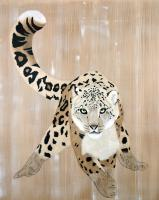 PANTHERA-UNCIA-2 animal-painting Thierry Bisch Contemporary painter animals painting art  nature biodiversity conservation