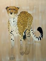 ACINONYX JUBATUS   Animal painting, wildlife painter.Dogs, bears, elephants, bulls on canvas for art and decoration by Thierry Bisch