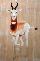GAZELLA-DAMA dama-gazelle-addra-delete-threatened-endangered-extinction Thierry Bisch painter animals painting art decoration hotel design interior luxury nature biodiversity conservation