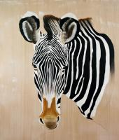 EQUUS-GREVYI Zebra-Greyvi-zebra-equus-grevyi Thierry Bisch painter animals painting art decoration hotel design interior luxury nature biodiversity conservation