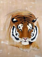 PANTHERA-TIGRIS   Animal painting, wildlife painter.Dogs, bears, elephants, bulls on canvas for art and decoration by Thierry Bisch