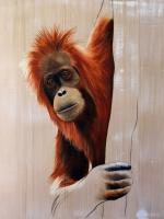 PONGO orangutan-pongo Thierry Bisch painter animals painting art decoration hotel design interior luxury nature biodiversity conservation
