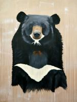 URSUS-THIBETANUS Asian-bear-tibetan-bear-ursusthibetanus Thierry Bisch painter animals painting art decoration hotel design interior luxury nature biodiversity conservation