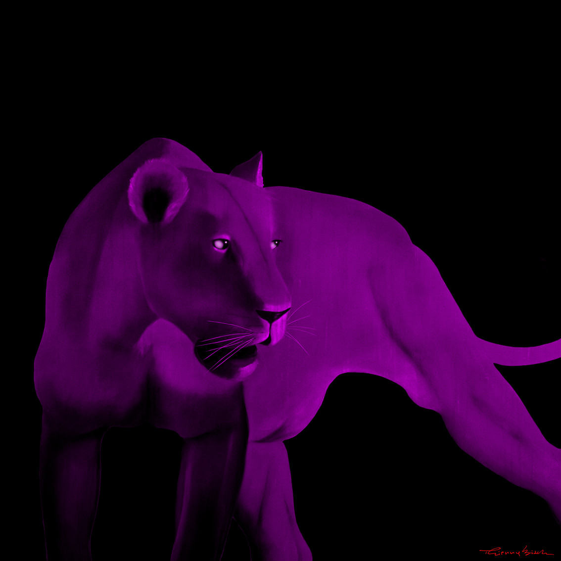 Lion Pop Art Lioness purple lion showroom: galleryhip.com/lion-pop-art.html